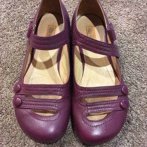 Nordstrom plum leather Miz Mooz shoes